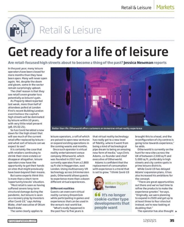 This week we spoke to @propertyweek about about our view on the outlook of the high street, what will lie ahead and the impact leisure will have in shaping new developments.   Things are changing and high streets will be changed for the better, with the cream rising to the top.   Delighted to see my clients @lane7_ , @otherworld.london and @sixescricketclub being featured heavily.   They are brands that are forward thinking and we at Torridon love to work alongside.   Please get in touch if you want to discuss their requirements further.  #property  #competitivesocialising  #fandb #london #bringthenoise #agency #choosenottochooseanythingotherthanlife #choosetorridon
